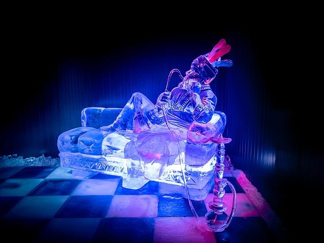 osvětlení ledu