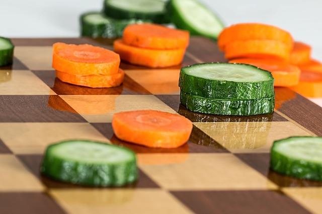 zelenina na šachovnici